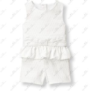 Janie and Jack Blue Belle romper 6-12